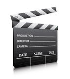 Clapper board. Vector illustration of clapper board  on white Stock Images