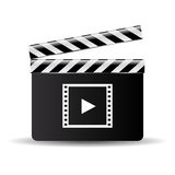 Clapper board. Vector illustration on white background Royalty Free Stock Images