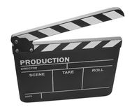 Clapper board on white background Stock Image