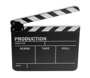 Clapper board on white background Royalty Free Stock Image