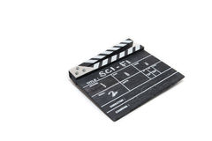 Clapper board on white background Title Sci-Fi Royalty Free Stock Image