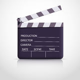 Clapper board on white background Royalty Free Stock Photography