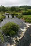 Clapper bridge. At Postbridge, Dartmoor, UK Stock Photos