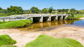 Clapper Bridge Bodmin Moor Cornwall Stock Photos