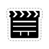 Clapper cinema movie image Stock Images
