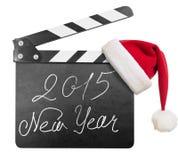 Clapper deska z 2015 nowy rok tekstem odizolowywającym Obraz Stock