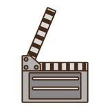 Clapper för tecknad filmfilm Arkivfoto