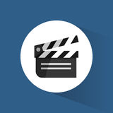 Clapper film movie cinema icon. Vctor illustration eps 10 Royalty Free Stock Photography