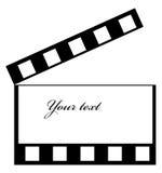 Clapper frame. Illustration of a cinema frame with clapper royalty free illustration