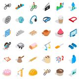 Clapper icons set, isometric style Royalty Free Stock Photos