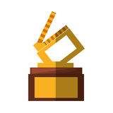 Clapper movie trophy awards shadow. Vector illustration eps 10 Royalty Free Stock Image