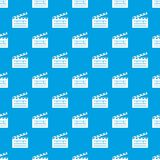 Clapper pattern vector seamless blue. Repeat for any use Royalty Free Stock Photos