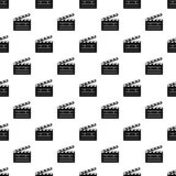 Clapper pattern vector seamless. Repeating for any web design Stock Photos