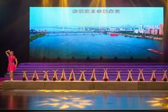 Clapper talk-Pride is a Nanchang man-Rap dance. The trade union of the Nanchang city general trade union celebrates the artistic consolation performance of the Stock Photo