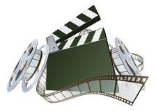 clapperboard影片电影卷轴 库存图片