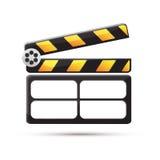 clapperboard 戏院 也corel凹道例证向量 免版税库存照片