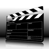 Clapperboard. Vector clapperboard with blackboard, perspective Royalty Free Stock Photos