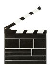 Clapperboard. Blank clapperboard ready for lettering Stock Image