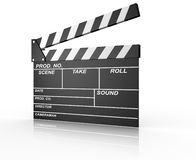 Clapperboard. A conceptual opened clapperboard. 3d render illustration Royalty Free Stock Photo