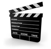 Clapperboard Stockbild