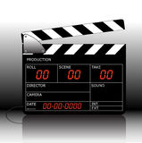Clapperboard. Vector modern electronic clapperboard with blackboard Stock Photos