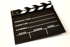 Clapperboard. Color black on a white background Royalty Free Stock Photography