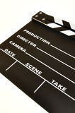 Clapperboard. Color black on a white background Royalty Free Stock Images