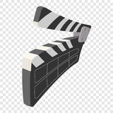 Clapperboard cinema cartoon icon Stock Photography