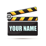 Clapperboard. Cinema. Illustration stock images