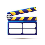 Clapperboard. Cinema. Illustration royalty free stock photo