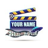 clapperboard cinema Ilustração Imagem de Stock Royalty Free