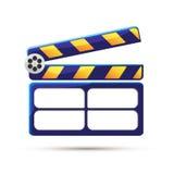 Clapperboard. Cinema. Vector illustration. Clapperboard. Self made movie. Vector illustration Stock Images