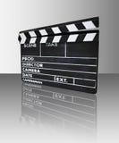 Clapperboard com reflexão ilustração stock