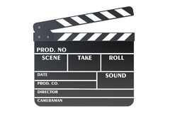 Clapperboard, 3D rendering Royalty Free Stock Photography