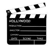 Clapperboard de Hollywood Fotografia de Stock Royalty Free