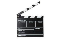 Clapperboard de la película Foto de archivo libre de regalías