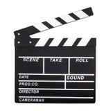 Clapperboard de la película Fotos de archivo