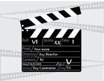 Clapperboard del director de película Fotos de archivo libres de regalías