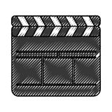 Clapperboard film isolated icon Royalty Free Stock Photography