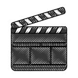 Clapperboard film isolated icon. Vector illustration design Royalty Free Stock Photo