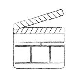 Clapperboard film isolated icon. Vector illustration design Stock Image