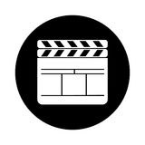 Clapperboard film isolated icon. Vector illustration design Stock Photos