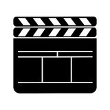 Clapperboard film isolated icon. Vector illustration design Royalty Free Stock Photography