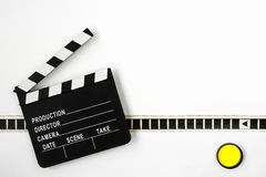 Clapperboard and film Royalty Free Stock Photos