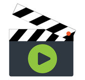 Clapperboard Icon Design. EPS 8 supported Royalty Free Stock Image