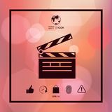 Clapperboard icon symbol. Clapperboard icon. Element for your design Stock Images