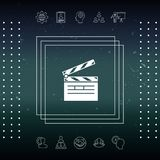 Clapperboard icon symbol. Clapperboard icon. Element for your design Royalty Free Stock Image