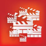Clapperboard icon. Film , cinema, movie symbol Stock Photos