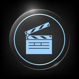 Clapperboard icon symbol. Clapperboard icon. Element for your design . Signs and symbols - graphic elements for your design Royalty Free Stock Image