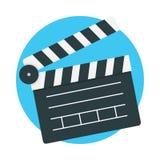 Clapperboard-Ikonenvektor Lizenzfreie Stockfotos